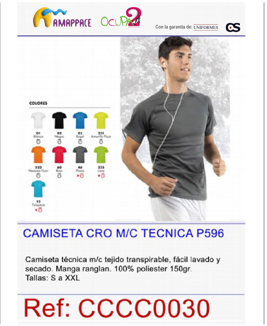 Camiseta Técnica Transpirable